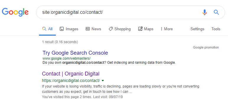 site search command